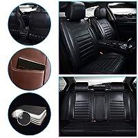カーシートカバー のために Chevrolet Sonic Camaro Trailblazer Sail AVEO Silverado 5席フォーシーズンズユニバーサルPUレザー車用シートカバーカーシート保護カバーノンスリッ 耐摩耗性 超快適性 自動車内装 黒