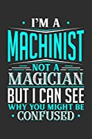 I'm A Machinist Not A Magician But I can See Why You Might Be Confused: Small Business Planner 6 x 9 100 page to organize your time, sales, profit, ideas and notes.