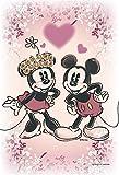 70ピース ジグソーパズル ディズニー KIRIART-Mickey&Minnie-【プリズムアートプチ+フレームセット】