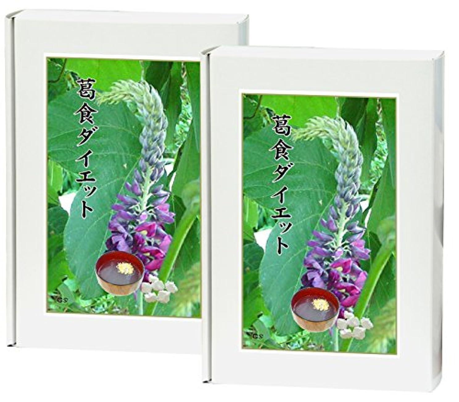 お茶縫う対抗自然健康社 葛食ダイエット 40g×10食×2個