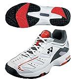 【ヨネックス】YONEX POWER CUSHION 102【SHT-102】3E設計 テニスシューズ 軽量 ホワイト/オレンジ 23.0cm