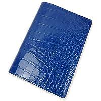 アクュード Cookday 日本製 本革 手帳カバー Made in Japan コッコ クロコ型押 A6サイズ用 - BDA6-02 BL ブルー