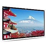 プロジェクター スクリーン HENZIN 100インチ ポータブル 16:9 HD 壁掛け 投影スクリーン ホームシアター PPTプレゼンテーション 会議 教室 適用(100インチ)