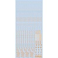 ハイキューパーツ 1/100 オレンジ&グレー RB01コーションデカール (1枚入)