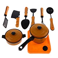 Fenteer シミュレーション キッチンパン ふり遊び ごっこ遊び 調理器具 モデル おもちゃ 9点