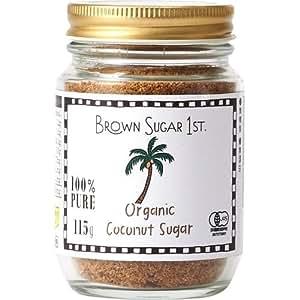 オーガニック ココナッツシュガー 瓶タイプ (有機 化学調味料無添加 100% 天然 ブラウンシュガーファースト)