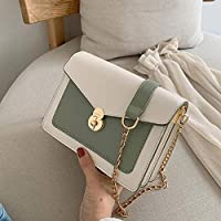 女性のハンドバッグ、 チェーン小さな正方形のバッグファッション野生のショルダーメッセンジャーバッグ夏の小さな新鮮なバッグ女性のバッグ2019新しい波韓国語版 (Color : Green)