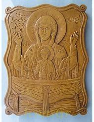 Handmade Carved Aromaticワックスから祝福アイコンアトスのバージンメアリー26 A