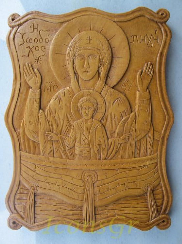受け継ぐ残忍なクリアHandmade Carved Aromaticワックスから祝福アイコンアトスのバージンメアリー26 A