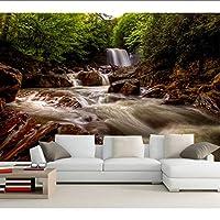 Lcymt 大壁画滝川ウェストバージニア州自然の壁紙、リビングルームのソファテレビの壁3Dの壁紙-280X200Cm