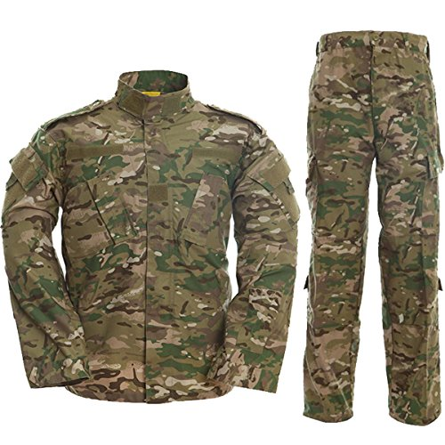 TACVASEN サバゲー 迷彩服 上下セット 戦闘服 od 大きいサイズ サバゲー装備品 トレーニングウェア メンズ 上下セット男女兼用 CP XL