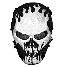 Skull Airsoft Wire Masks Full Face Paintball Mask with Metal Mesh Eye Protection