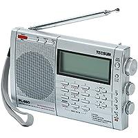 TECSUN PL-660 SSB・エアバンド・同期検波 ハイエンド短波ラジオ ポータブルBCL受信機 FMステレオ/AIR/LW/MW/SW PLLシンセサイザー ワールドバンドレシーバー 2000局プリセットメモリー デュアルコンバージョン ATSオートプリセット スリープタイマー アラーム 高音質大口径スピーカー (シルバー)
