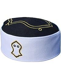 EXCLUSIVEブラックホワイトGolden刺繍サンダルKufiクラウンキャップイスラム帽子