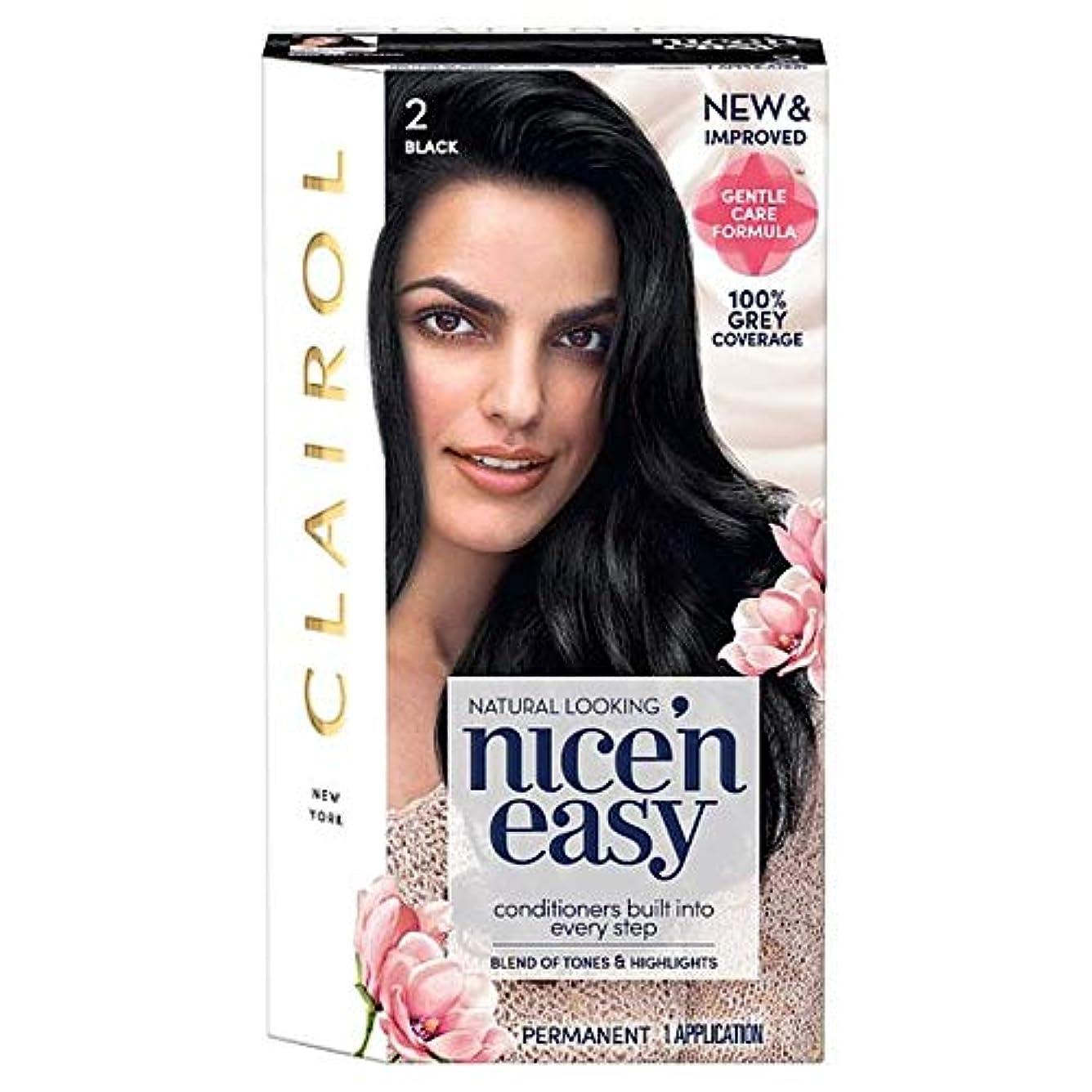 浸漬急いで縮約[Nice'n Easy] クレイロール「素敵Nは簡単に黒の2ヘアダイ - Clairol Nice 'N Easy Black 2 Hair Dye [並行輸入品]