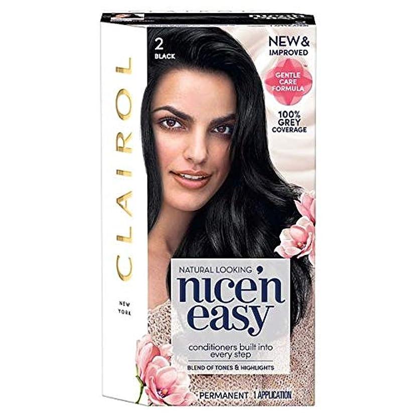 数値部屋を掃除するオーガニック[Nice'n Easy] クレイロール「素敵Nは簡単に黒の2ヘアダイ - Clairol Nice 'N Easy Black 2 Hair Dye [並行輸入品]