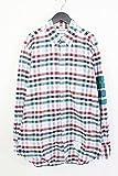 (トムブラウン)THOM BROWNE 袖ラインチェック柄BDシャツ(3/ホワイト×グリーン×レッド) 中古