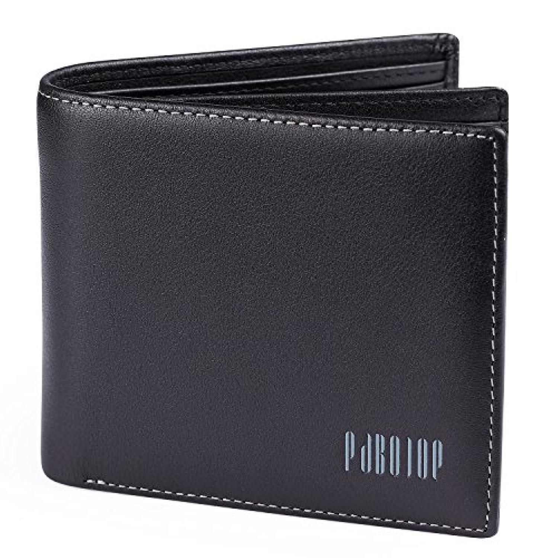 [パボジョエ] Pabojoe財布 メンズ 二つ折り wallet 男性 革 ブランド 小銭入れなし 人気 レザー カード収納 本革 皮(化粧箱入り)