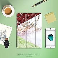 Batiand iPad 9.7 2018 ケース 薄型 軽量 PUレザー ソフトシリコンカバー スマートカバー (モデル:A1822,2017/2018年) (大理石)