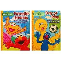 セットの2 Sesame Streetカラーリング&アクティビティBooks