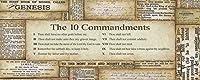 十戒20x 8Inspirational Poster Christian Biblicalアートプリント 20x8 Art Print/Poster SM9296-A