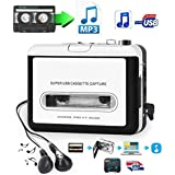 Cassette Player-Cassette Tape To MP3 CD Converter Via USB, Portable USB Cassette Tape Player Walkman Captures MP3 Audio Music -Compatible with Laptops and PC, Convert Tape Cassettes to MP3 Format
