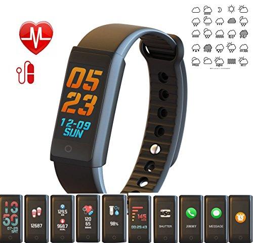 5f6ebece8b スマートブレスレット 最新型 スマートウォッチ 血圧計・血中酸素測定 天気情報 カラフル