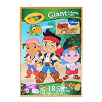 Disney Jake and the Neverland Pirates 18 Giant Colouring Pages
