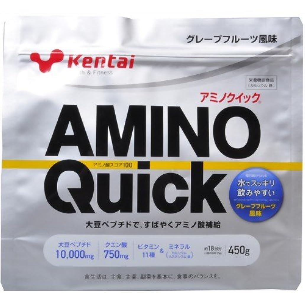 愛撫忠実な無関心Kentai(ケンタイ) アミノクイック(大豆ペプチド) グレープフルーツ風味 450g