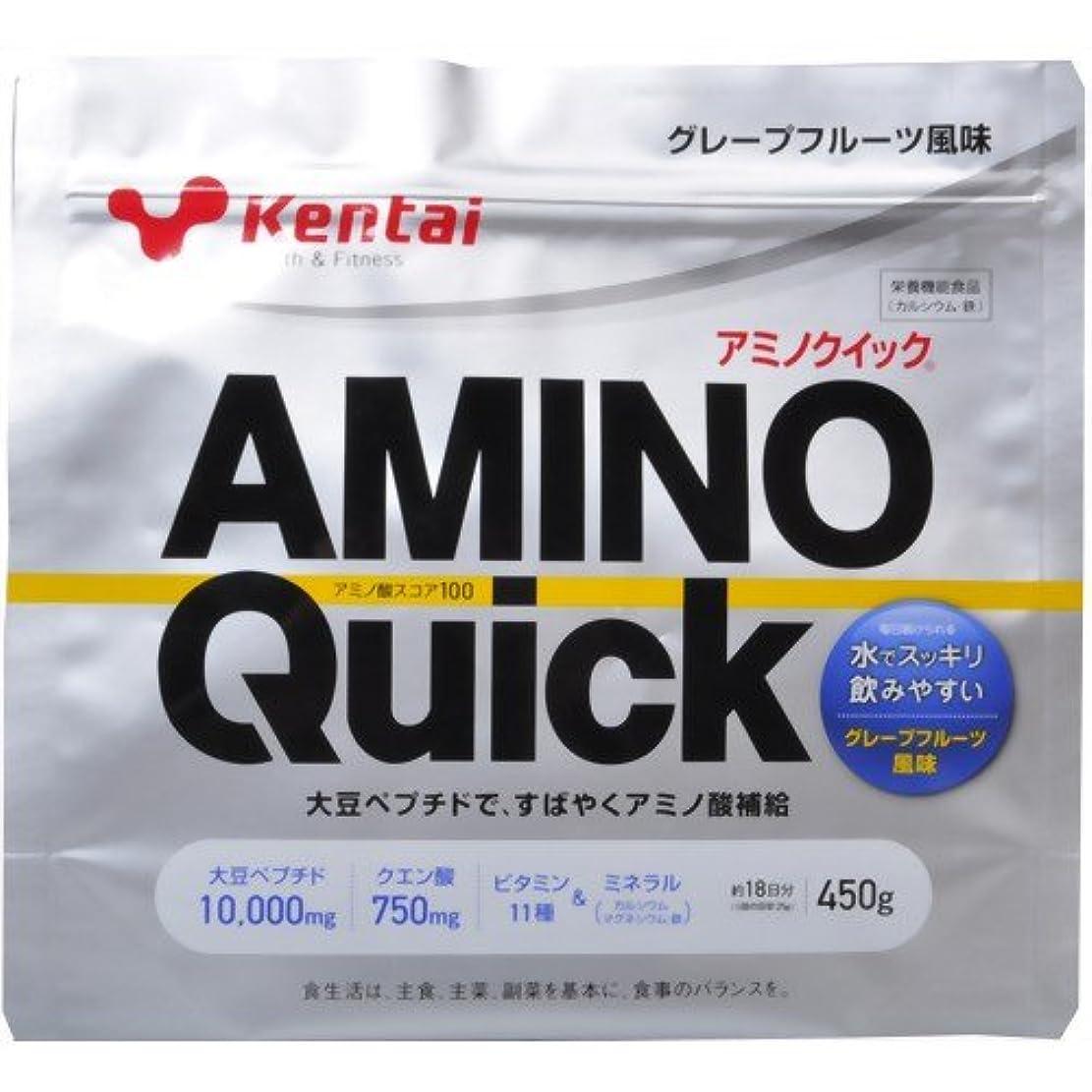 ブロンズロマンチック国民投票Kentai(ケンタイ) アミノクイック(大豆ペプチド) グレープフルーツ風味 450g