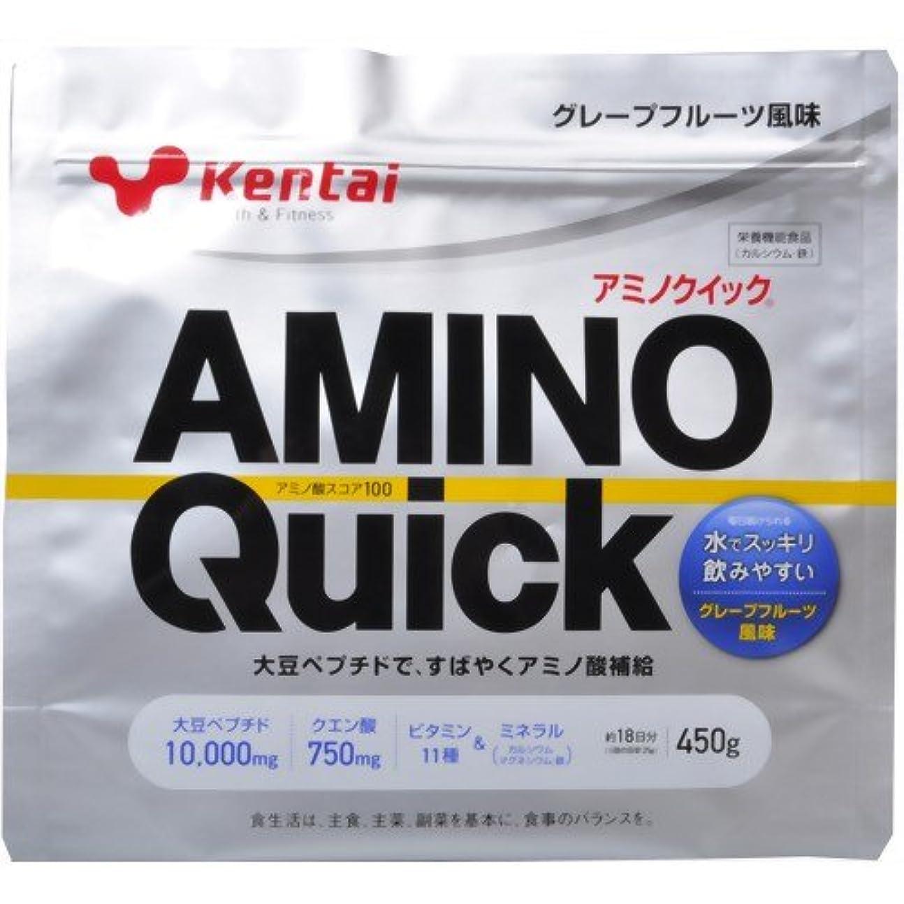 獣妥協知覚Kentai(ケンタイ) アミノクイック(大豆ペプチド) グレープフルーツ風味 450g