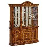 イタリア製 鏡面家具(Saltarelli)AMALFI グランデ カップボード 飾り棚 大理石 WALNUT
