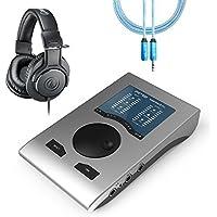 RME Babyface Pro 24-Channel Audio Interface PLUS Audio-Technica ATH-M20X Professional Headphones PLUS Blucoil 6 ft Extender [並行輸入品]
