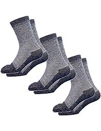 (1926) 靴下 メンズ 5本指 高級コーマ綿糸でソフトな履き心地 蒸れない快適メッシュ5本指ソックス 軍足 安全靴や作業用に 杢3足組 25~27cm