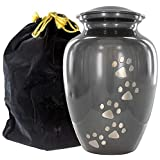 Always Faithful Large Gray Pet Urns for Dogs Ashes and Cats Too - Find Peace and Comfort with This Quality Dog Or Cat Pet Urn
