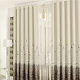 カーテン 断熱 遮熱 北欧デザイン 幅100cm×丈250cm 1枚セット 2枚セット (ブラウン*2枚)