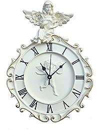 komanakomi ヨーロピアン風 天使 の 掛け時計 静か な ウォールクロック (24cm)