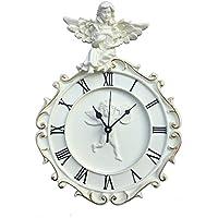 komanakomi ヨーロピアン風 天使 の 掛け 時計 静か な ウォールクロック (28cm)