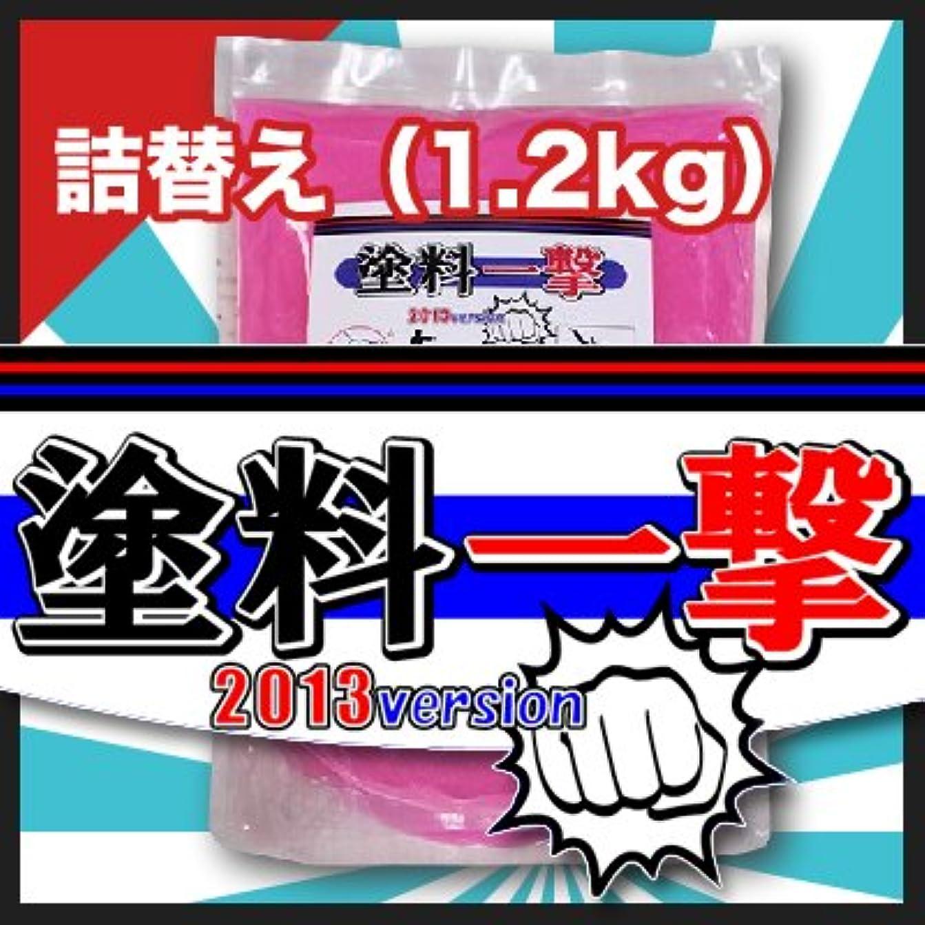 塊いっぱい収まるD.Iプランニング 塗料一撃 2013 Version 詰め替え (1.2kg)
