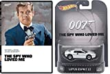 James Bond The Spy Who Loved Me DVD with Hot Wheels Retro Entertainment Lotus Esprit S1 Die-cast 1:64 Car Bundle