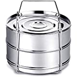 Instant Pot Accessories, Steamer Insert Pans for 6qt/ 8qt Pressure Cooker, BBing Stackable Stainless Steel Vegetable Steamer
