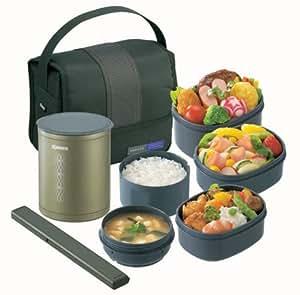 ZOJIRUSHI 保温弁当箱お・べ・んと 【茶碗約1.5杯分】 SZ-DA03-GL オリーブグリーン