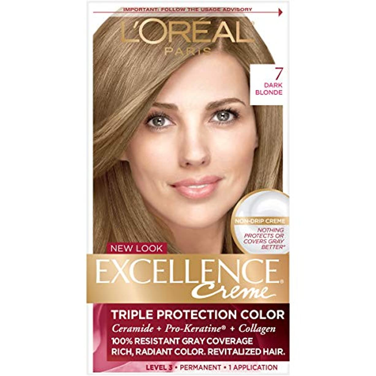 遅れ兵士カウボーイL'Oreal Excellence Creme Haircolor Dark Blonde (並行輸入品)