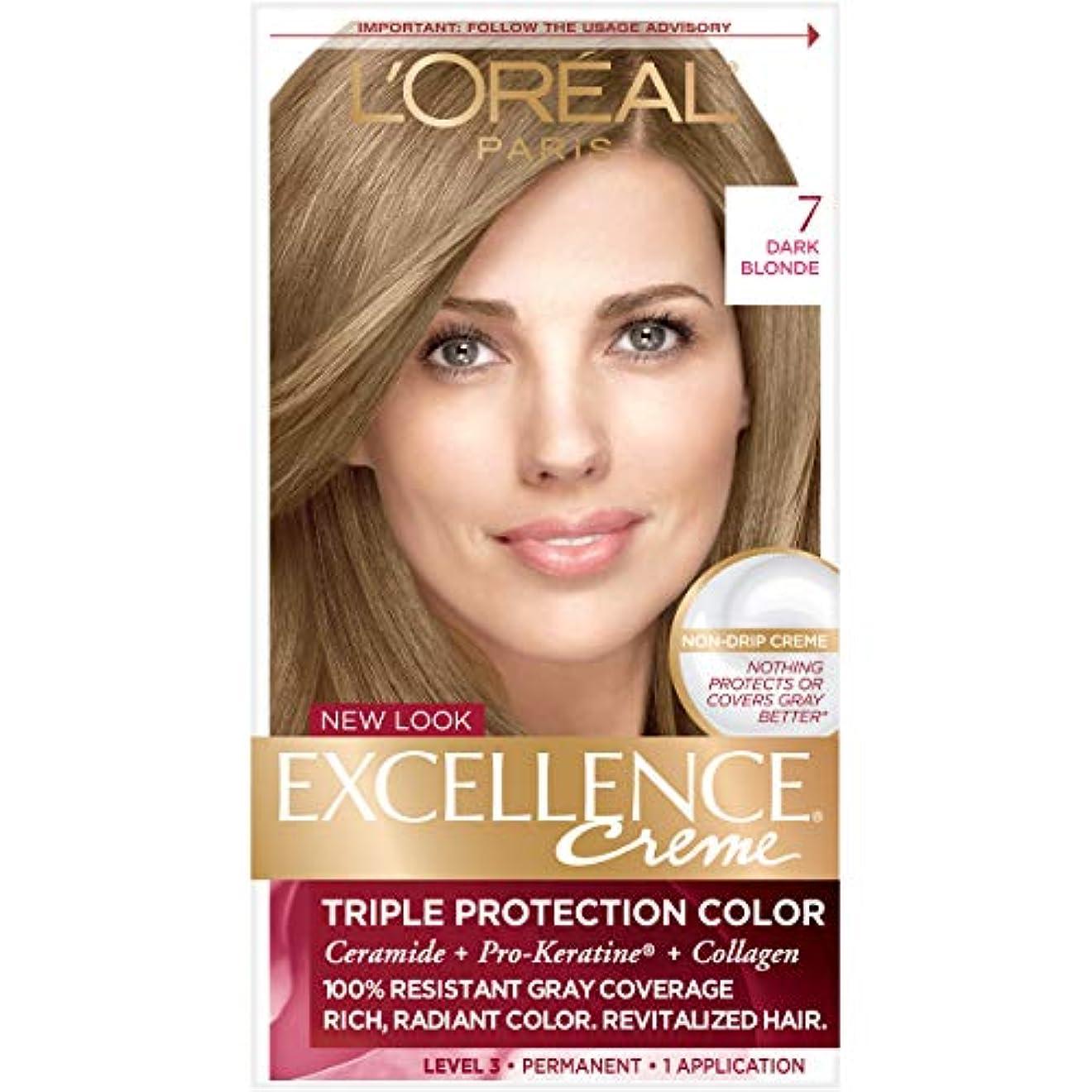 アウトドア文字マイナーL'Oreal Excellence Creme Haircolor Dark Blonde (並行輸入品)