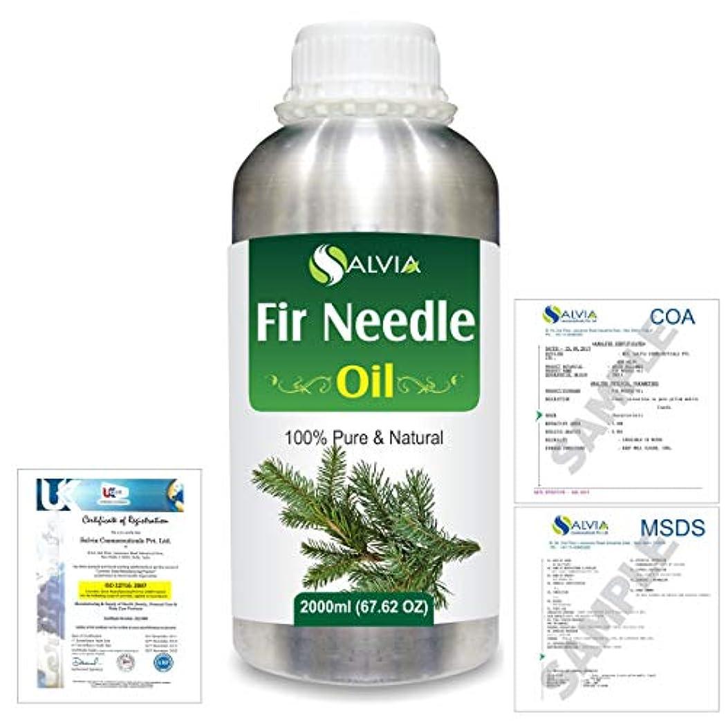 ボーダー貨物気づかないFir Needle (Abies balsamea) 100% Natural Pure Essential Oil 2000ml/67 fl.oz.
