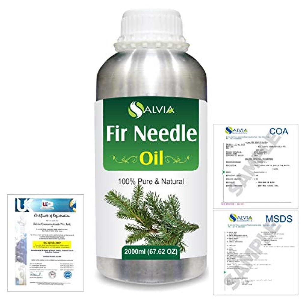 ハーフかき混ぜる国Fir Needle (Abies balsamea) 100% Natural Pure Essential Oil 2000ml/67 fl.oz.