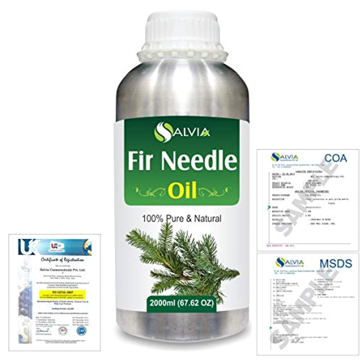 作者裏切り者バラ色Fir Needle (Abies balsamea) 100% Natural Pure Essential Oil 2000ml/67 fl.oz.