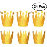 toymytoy Birthday Crown Hats Party Hats Crowns for子供と大人、24pcs2サイズ