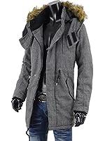 コート メンズ ビジネス モッズコート ファーコート 中綿 冬アウター R271201-14