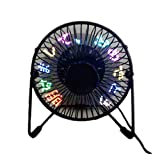 卓上扇風機 usbファン ledプログラミングファン RGB文字編集可能 usbミニ ファン 角度調整可能 小型扇風機 (1)